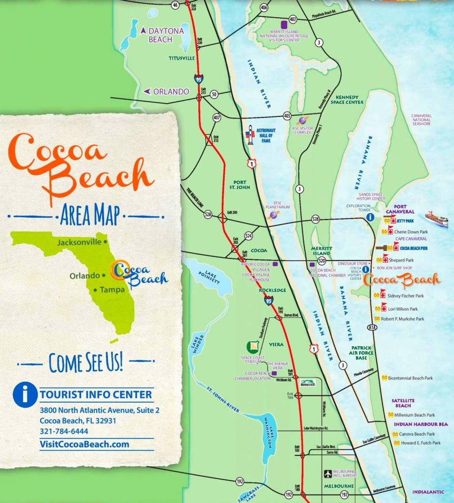 Cocoa Beach Tourist Map - Coco Beach Florida Map
