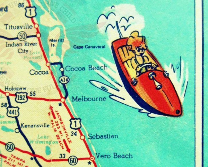Cocoa Beach Florida Map