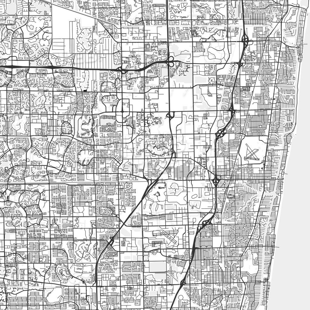 Coconut Creek, Florida - Area Map - Light | Hebstreits Sketches - Coconut Creek Florida Map