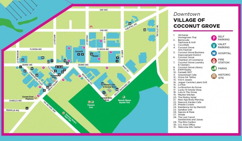 Coconut Grove Miami   » Maps - Coconut Grove Florida Map