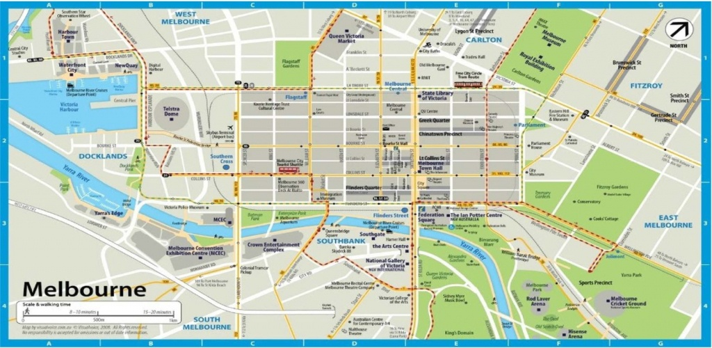 Coffee Mug: Melbourne Cbd Mug - Melbourne Cbd Map Printable