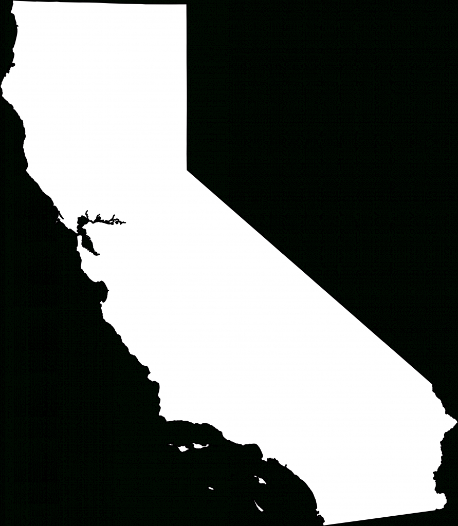 Collection Of Free Transparent Ca Outline. Download On Ui Ex - California Outline Map Printable