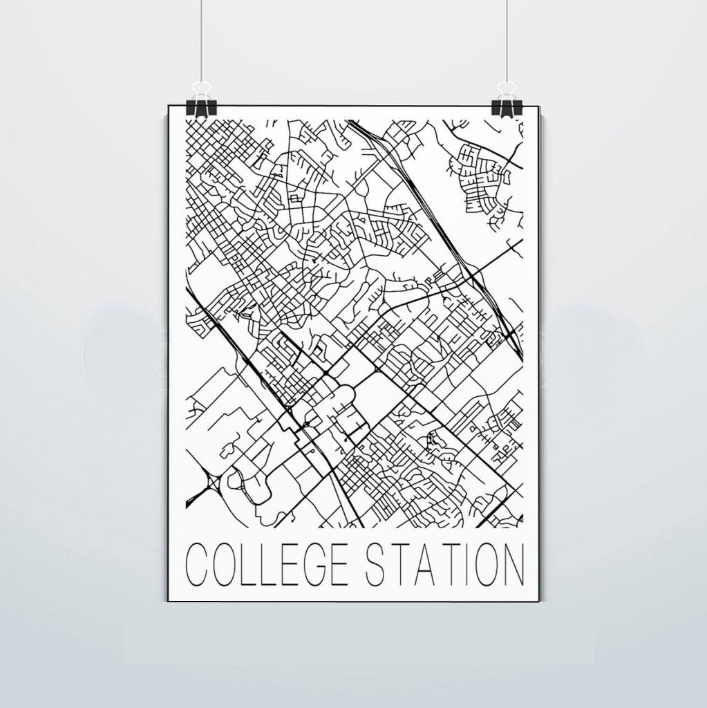 College Station Texas Map Aggies P Texas A&m Print | Etsy - College Station Texas Map