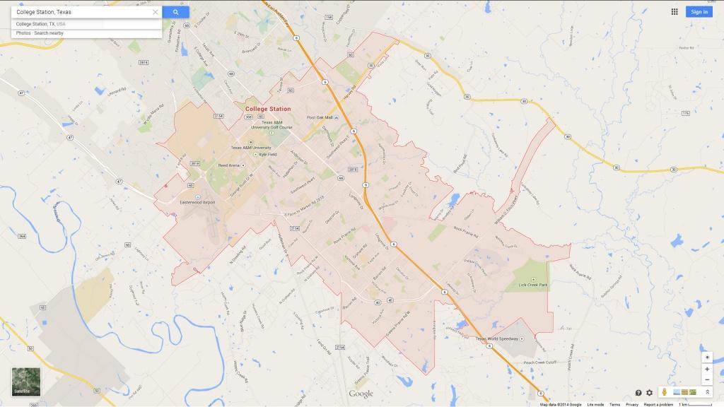 College Station Texas Map - College Station Texas Map