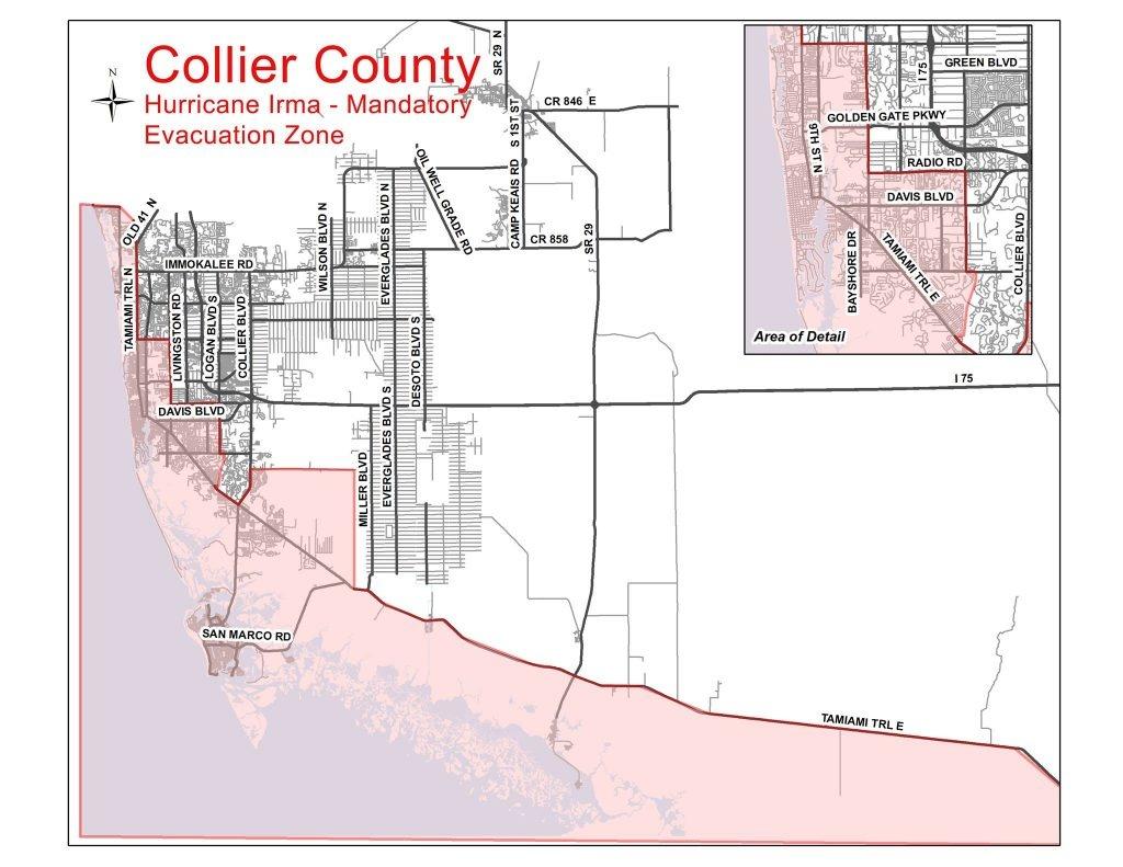 Collier County Evacuation Update | Coastal Breeze News - Lely Florida Map