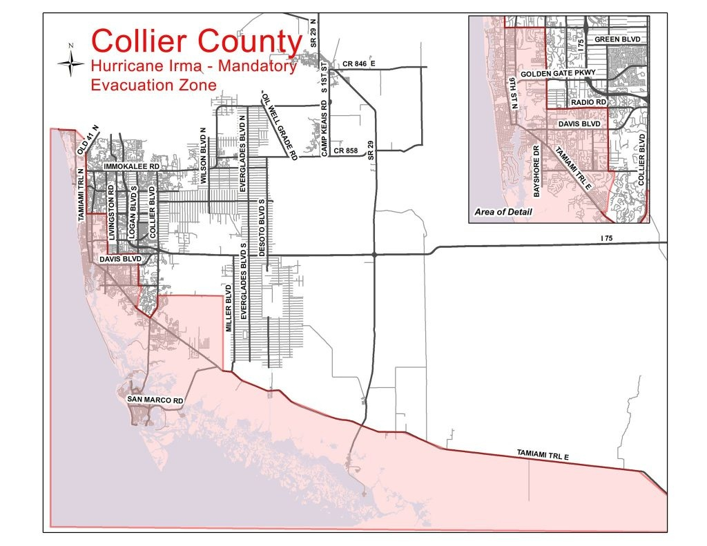 Collier County Evacuation Update | Coastal Breeze News - Lely Resort Naples Florida Map