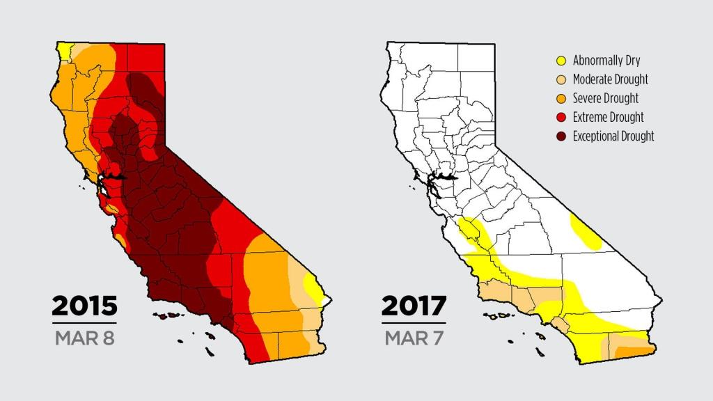 Color Me Dry: Drought Maps Blend Art And Science -- But No Politics - California Drought 2017 Map
