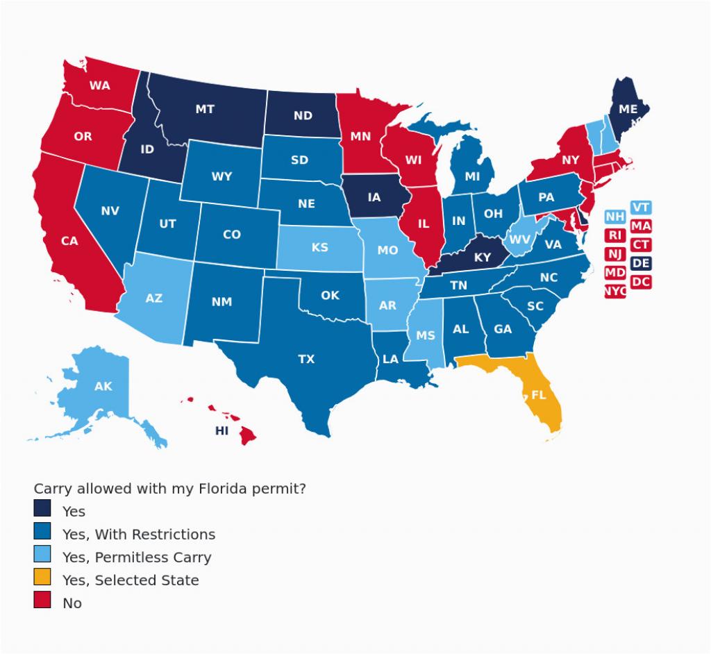 Colorado Concealed Carry Reciprocity Map Florida Concealed Carry Gun - Florida Ccw Reciprocity Map 2018
