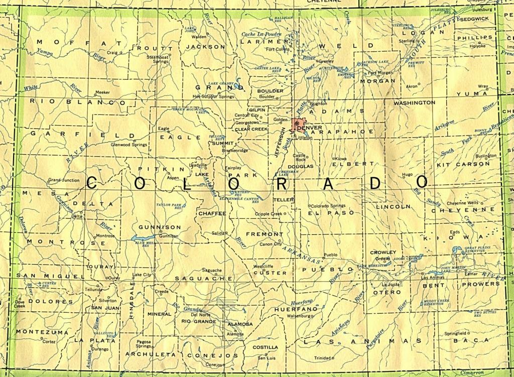 Colorado Maps - Perry-Castañeda Map Collection - Ut Library Online - Printable Map Of Colorado Cities