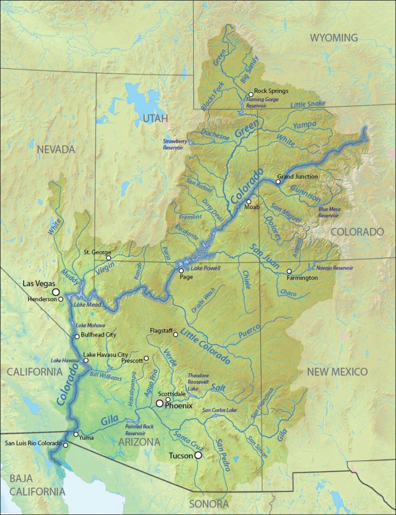 Colorado River   American Rivers - Colorado River Map Texas