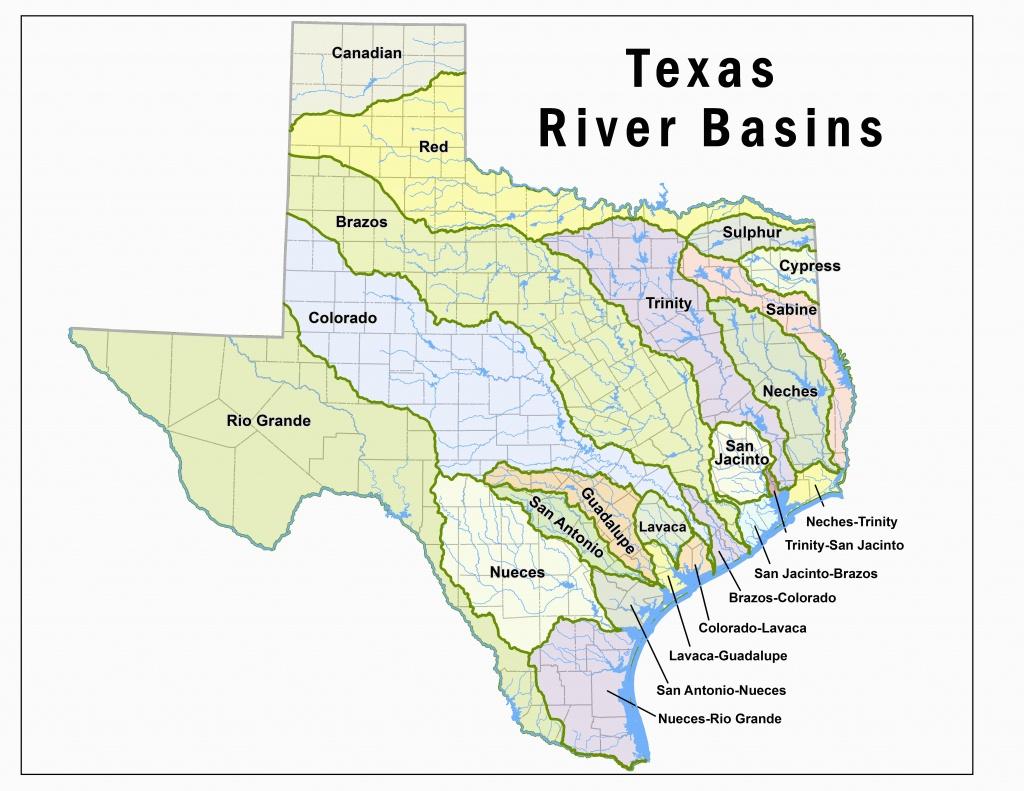 Colorado River Basin Map   Secretmuseum - Colorado River Map Texas