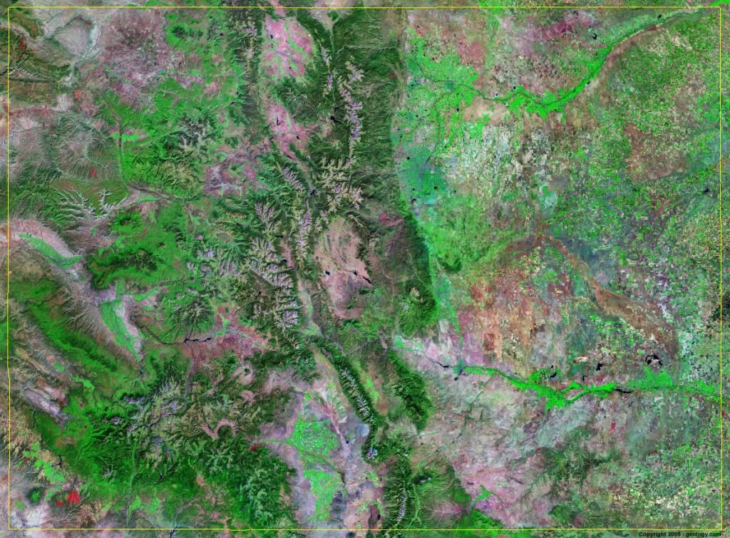 Colorado Satellite Images - Landsat Color Image - Live Satellite Map California