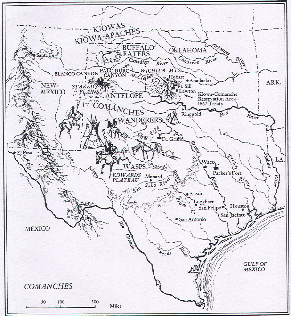 Comanche Indians | The Handbook Of Texas Online| Texas State - Native American Reservations In Texas Map