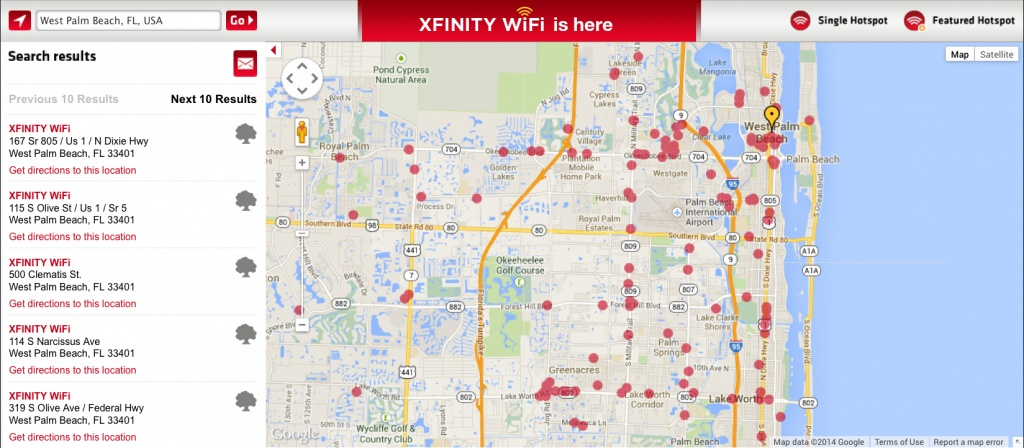 Comcast Turns On Xfinity Wifi Hotspots In Florida | Business Wire - Comcast Service Area Map Florida