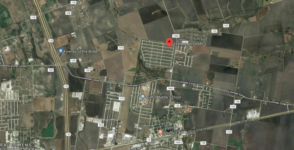 Coming Soon: 110 Brown Street, Hutto, Tx 78634 - Robert J Fischer - Hutto Texas Map