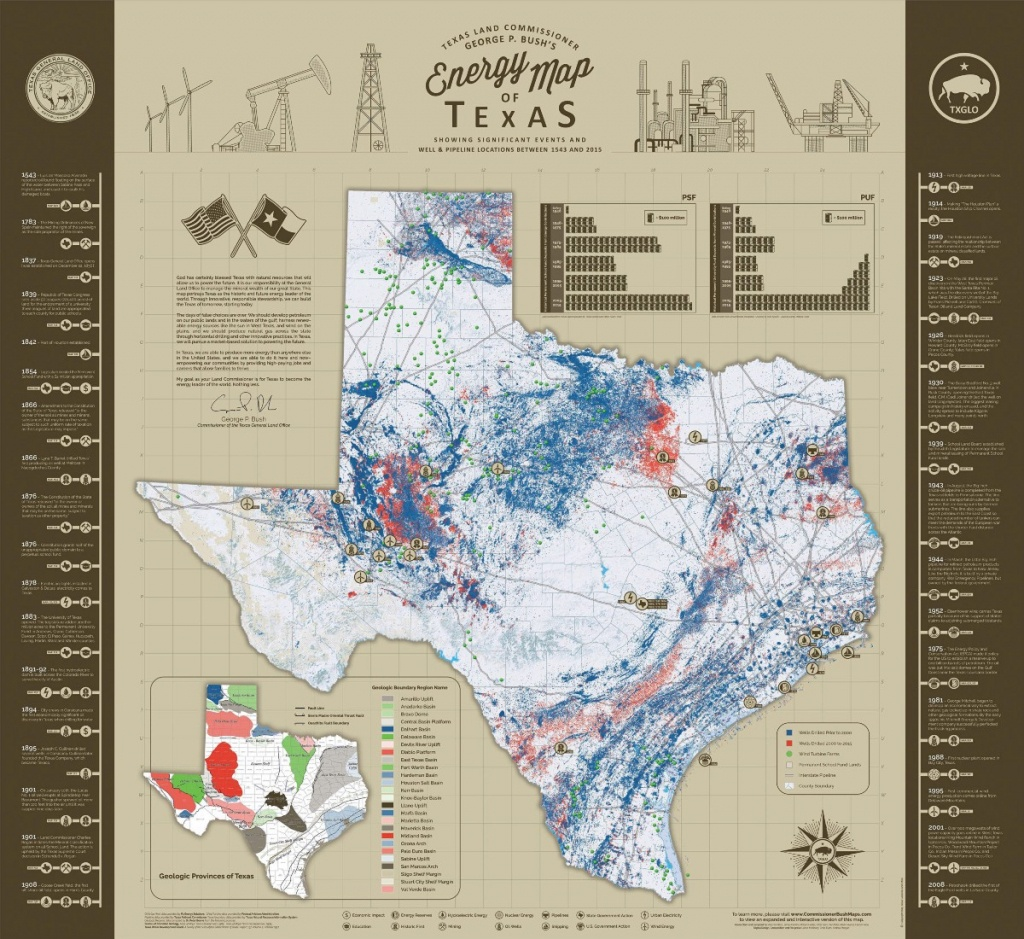 Commissioner Bush Follows Long Standing Tradition Of Mapping Texas - Texas Land Map