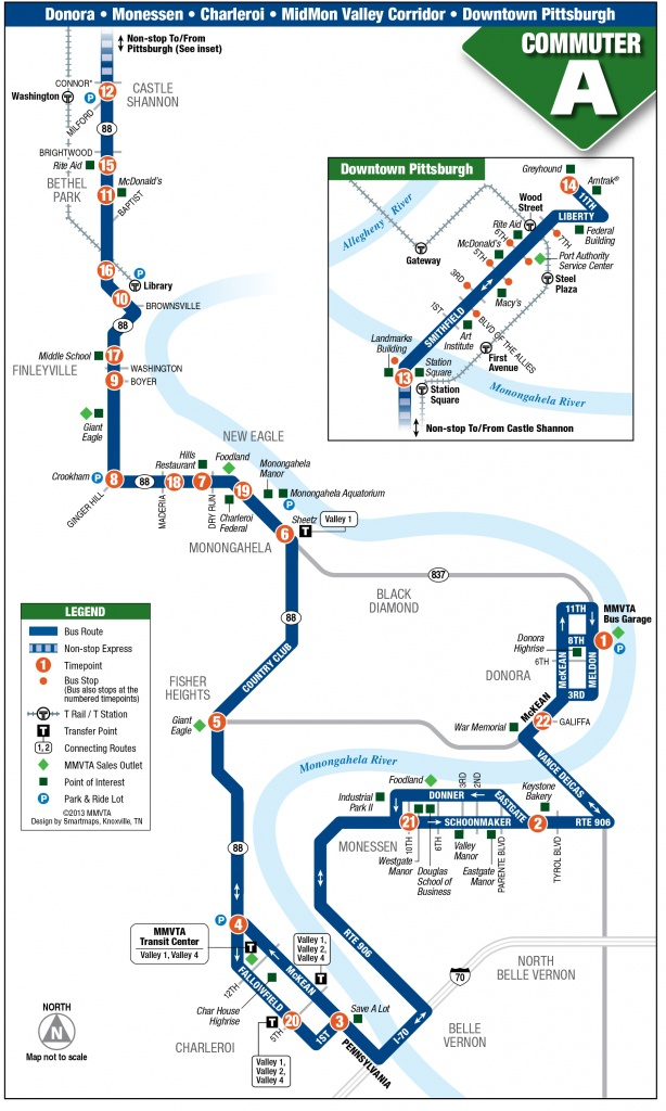 Commuter A - Mid Mon Valley Transit - Greyhound Route Map California