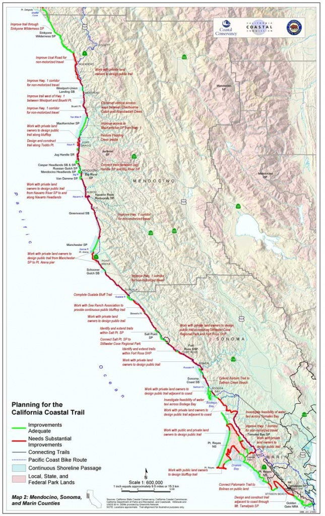 Completing The California Coastal Trail-Sb908 Report - Southern California Trail Maps