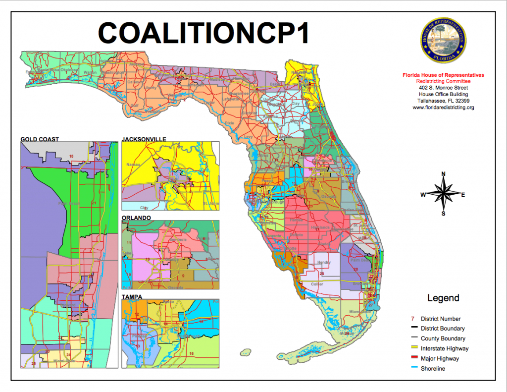Congressional Districts Drawnvoting-Rights Groups Go To Florida - Florida House Of Representatives District Map