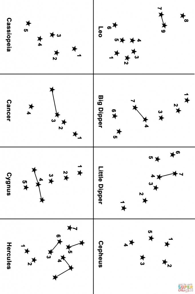 Constellation Map Dot To Dot   Free Printable Coloring Pages - Printable Constellation Map