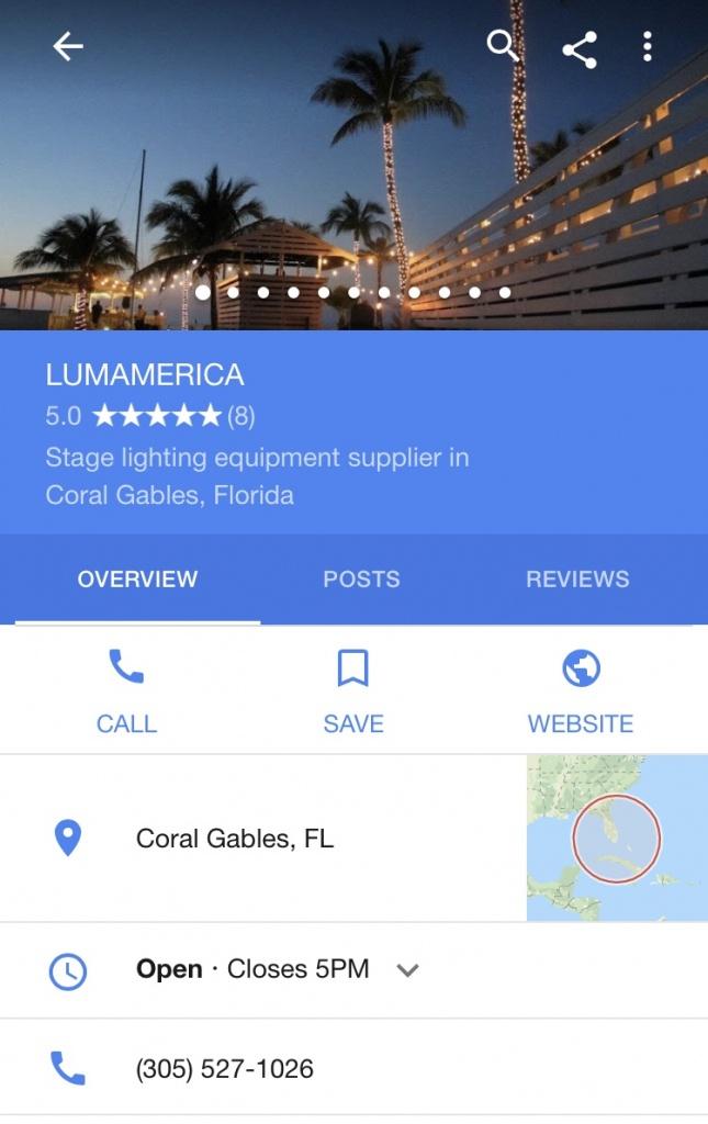 Contact | Lumamerica - Google Maps Coral Gables Florida