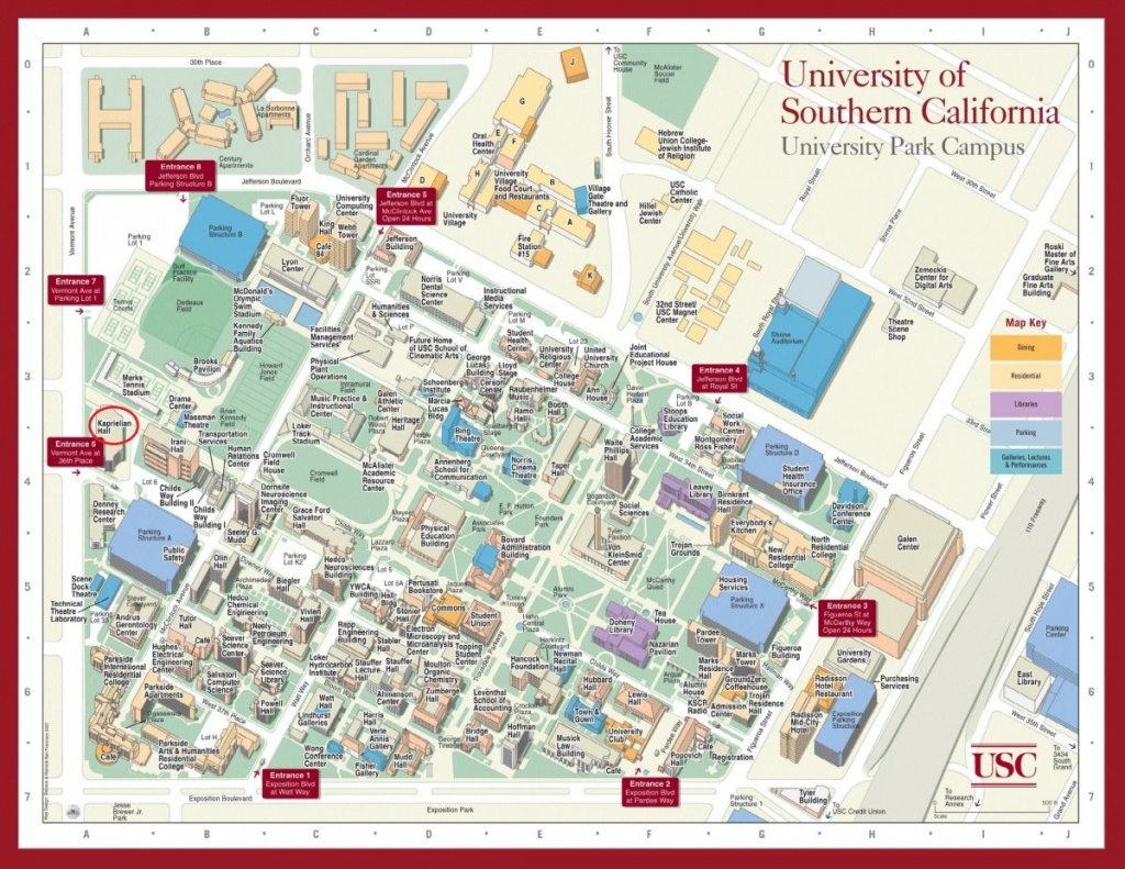 Contact Us > Department Of Mathematics > Usc Dana And David Dornsife - Usc Campus Map Printable