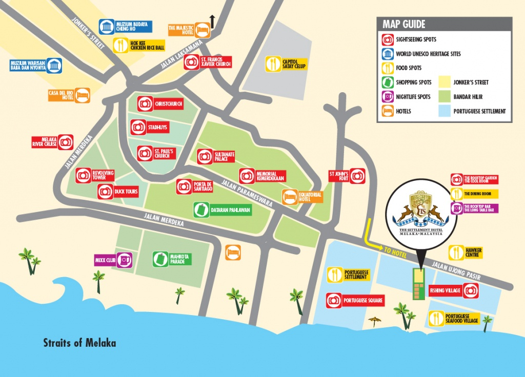 Contact Us - The Settlement Hotel Melaka - Melaka Tourist Map Printable
