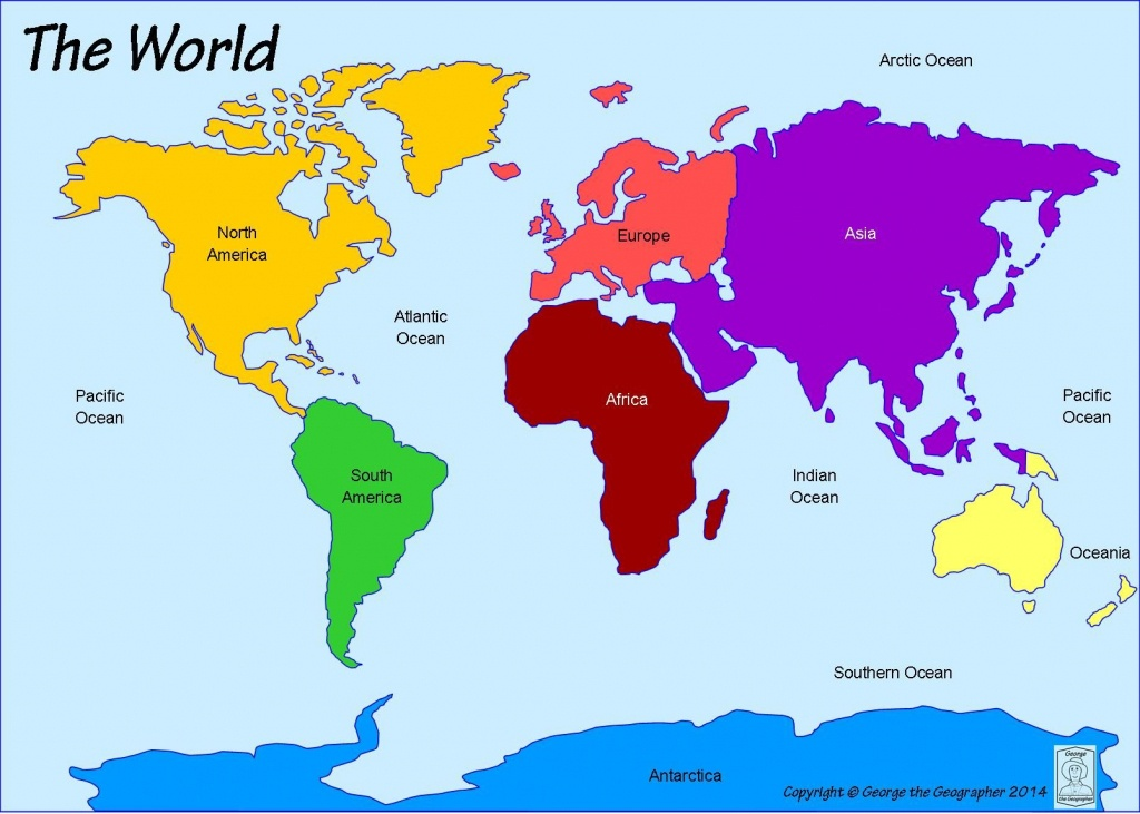 Continents And Oceans | World | World Map Continents, Continents - Printable Map Of Continents