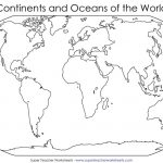 Continents Of The World Worksheets | This Basic World Map Shows The - Blackline World Map Printable Free