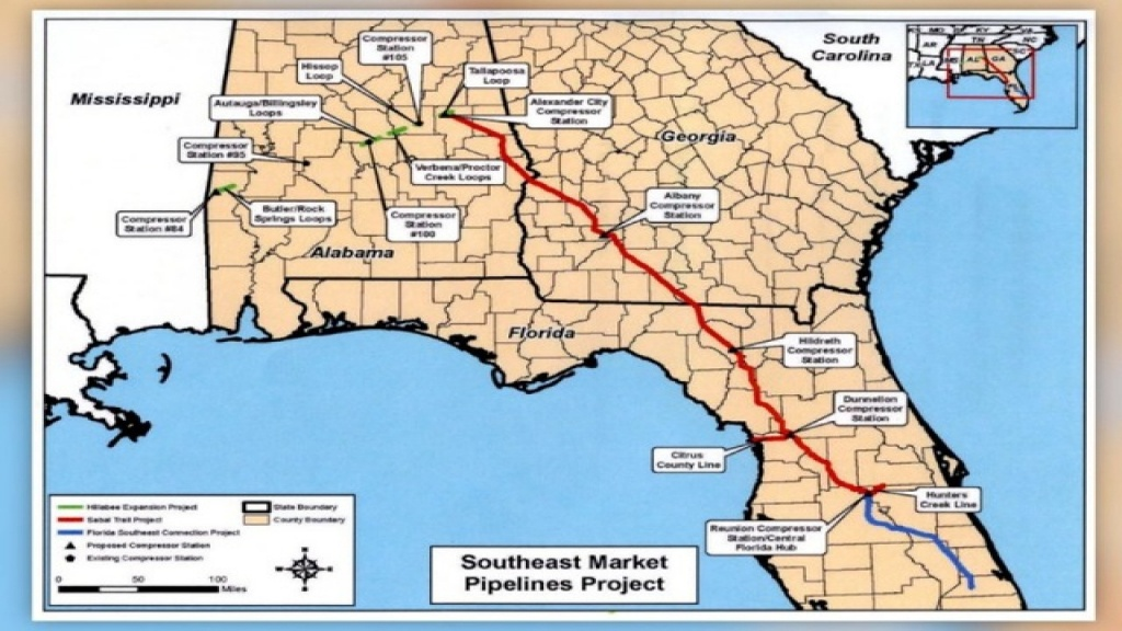 Controversial $3.2 Billion Sabal Trail Natural Gas Pipeline On - Florida Natural Gas Map