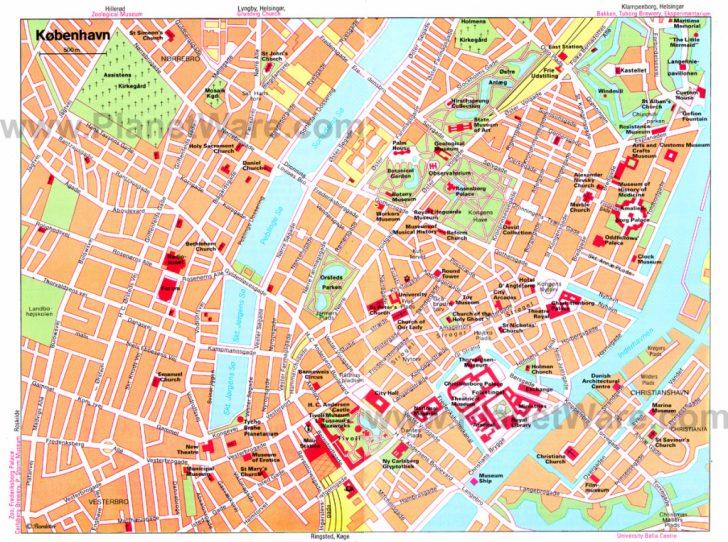 Copenhagen Tourist Map Printable