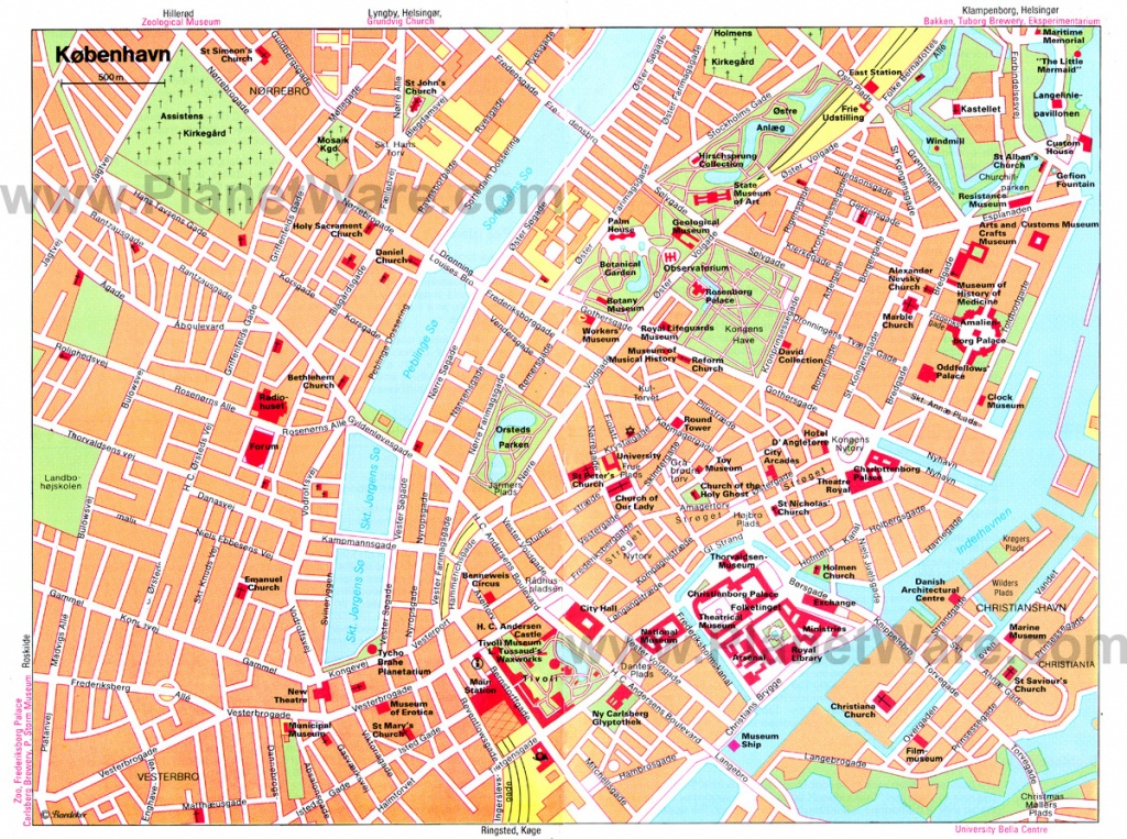 Copenhagen Map - Detailed City And Metro Maps Of Copenhagen For - Printable Map Of Copenhagen