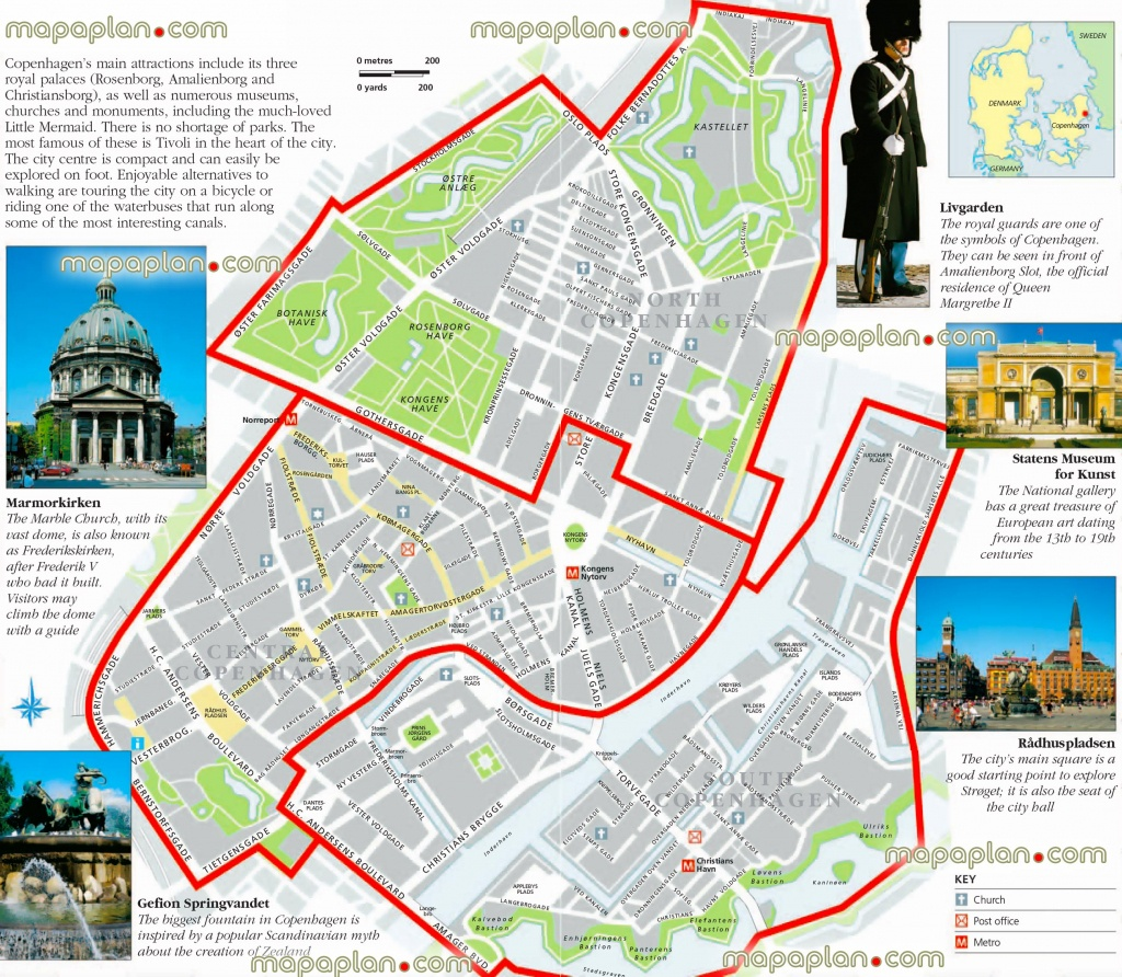 Copenhagen Maps - Top Tourist Attractions - Free, Printable City - Printable Map Of Denmark