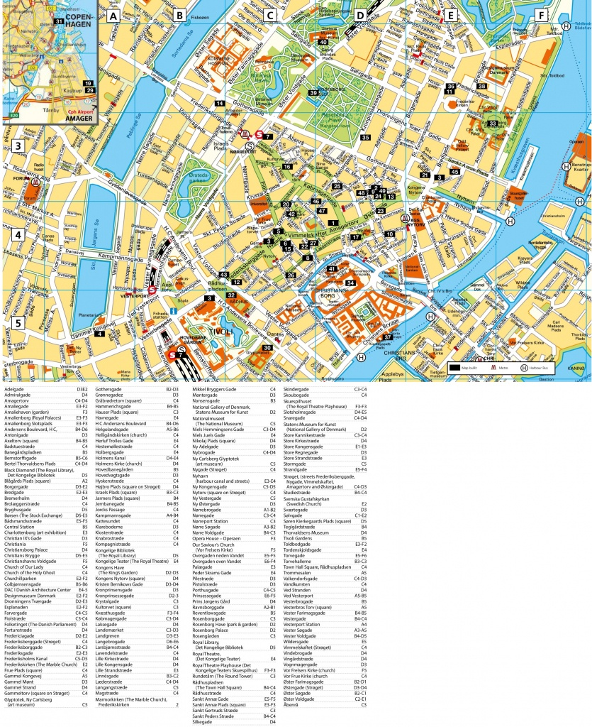 Copenhagen Tourist Attractions Map - Copenhagen Tourist Map Printable