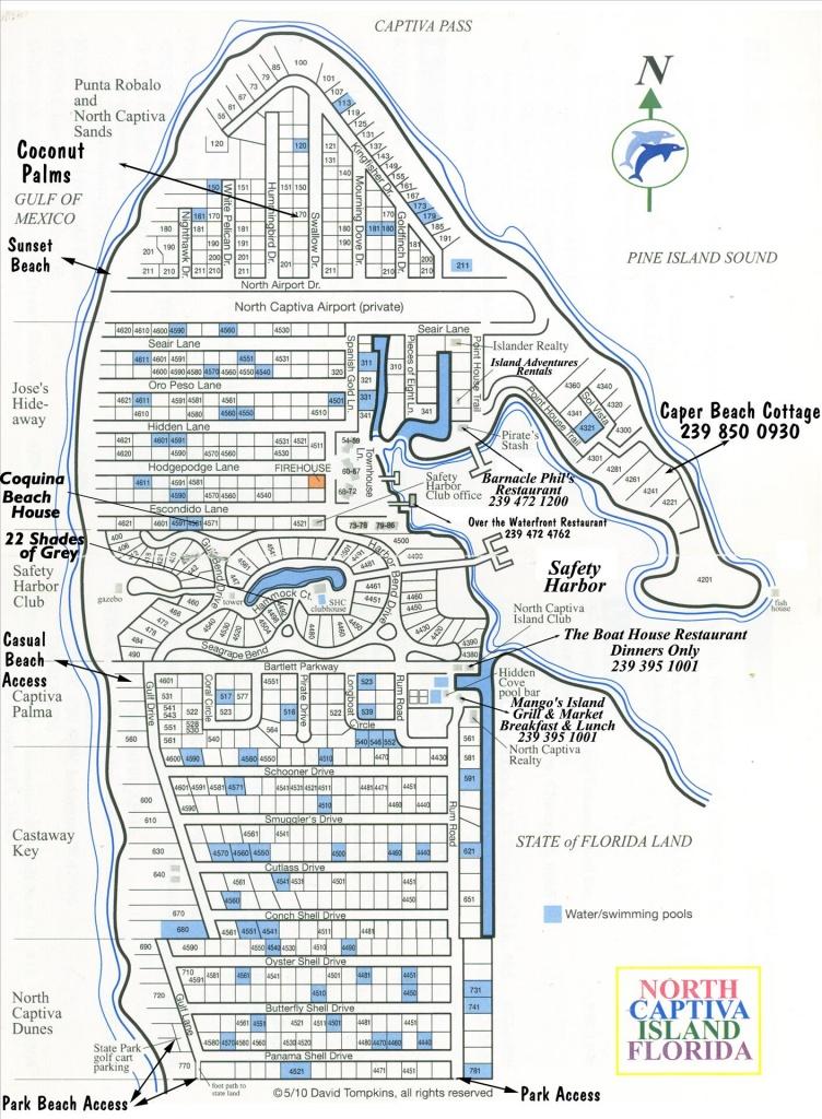 Coquina Beach House - Vacation Rental Beach Houses In North Captiva - North Captiva Island Florida Map