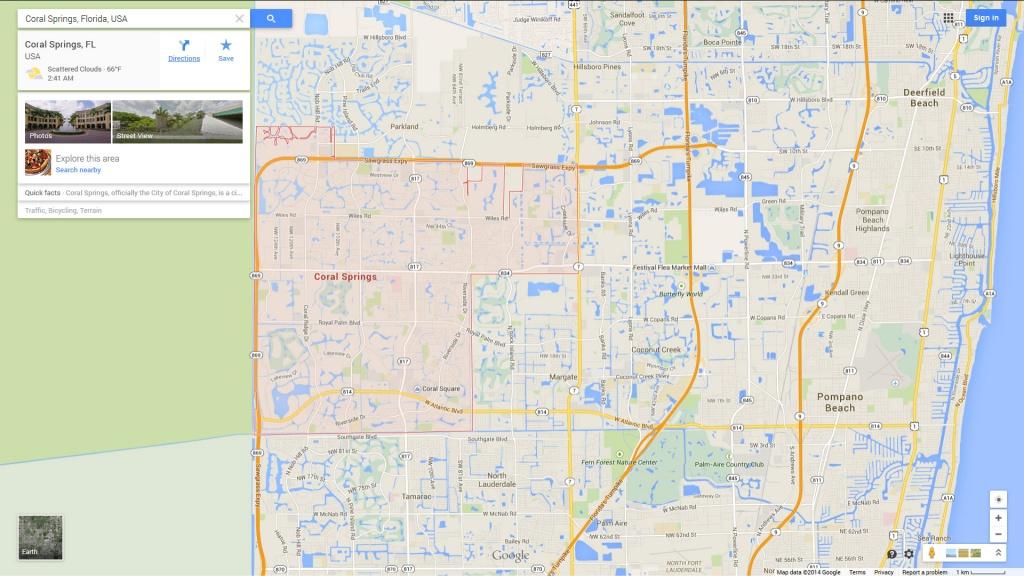 Coral Springs, Florida Map - Coral Springs Florida Map