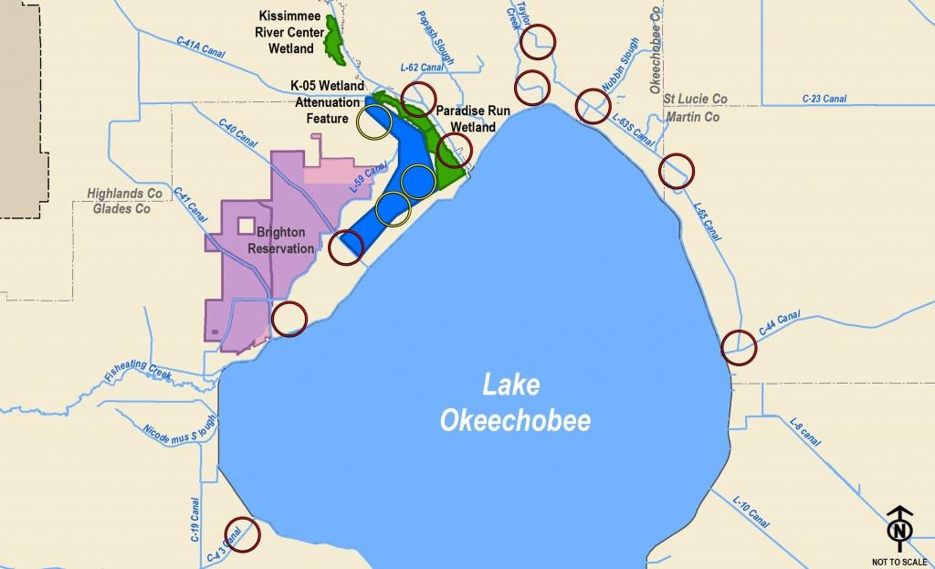 Corps Announces Public Meetings For Lake Okeechobee Watershed Study - Lake Okeechobee Florida Map