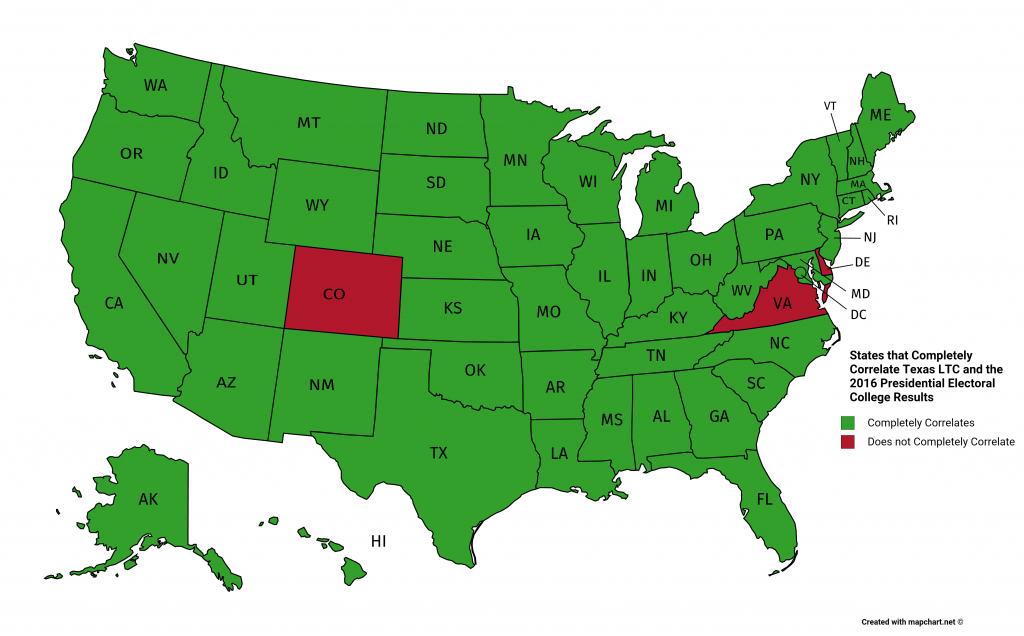 Correlating Texas License To Carry (Ltc) Reciprocity And The Us 2016 - Texas Ltc Reciprocity Map