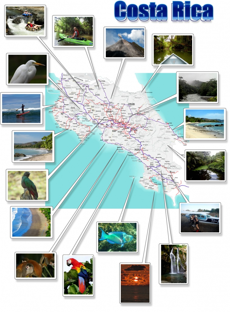 Costa Rica- Free Printable Map Download - Free Printable Map Of Costa Rica