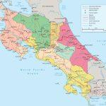 Costa Rica Political Map - Printable Map Of Costa Rica