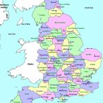 Counties And County Towns | Geo   Maps   England In 2019 | England   Printable Map Of Britain