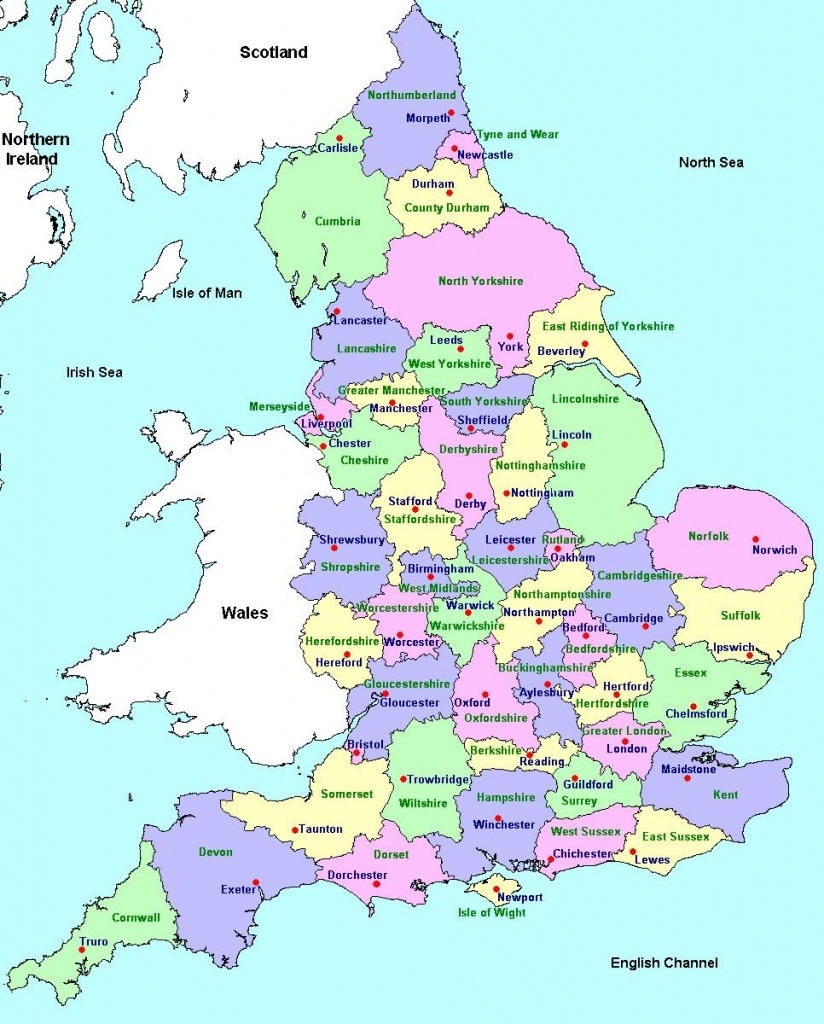Counties And County Towns | Geo - Maps - England In 2019 | England - Printable Map Of Britain