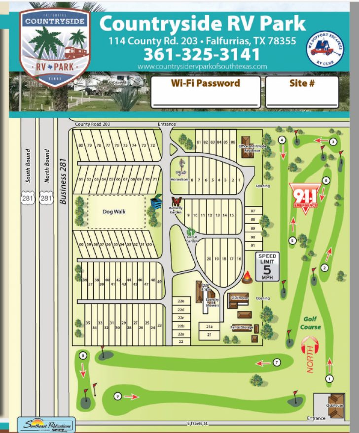 South Texas Rv Parks Map