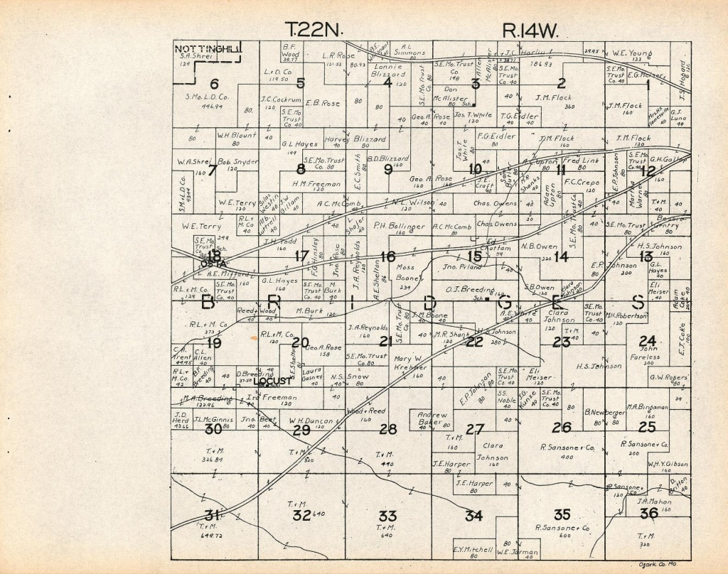 County Info Links - Texas County Mo Property Map
