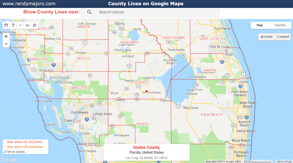 County Lines On Google Maps | Www.randymajors - Google Maps West Palm Beach Florida