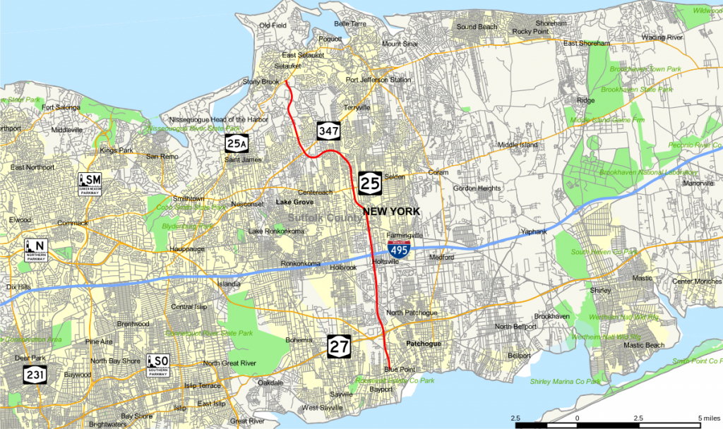 County Route 97 (Suffolk County, New York) - Wikipedia - Printable Map Of Suffolk County Ny