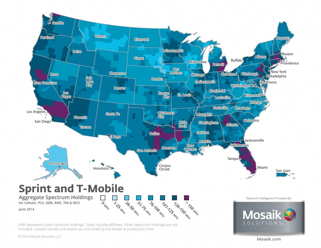 Coverage Maps For All Prepaid Carriers | Prepaid Phone News - Sprint Coverage Map Texas