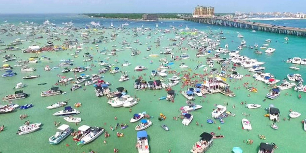 Crab Island In Destin Florida, Known For Where The Locals And - Crab Island In Destin Florida Map