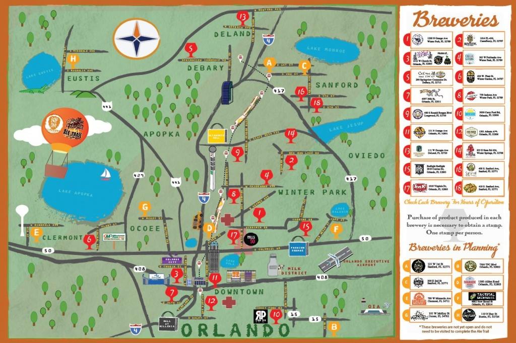 Craft Breweries - Historic Downtown Sanford - Florida Brewery Map