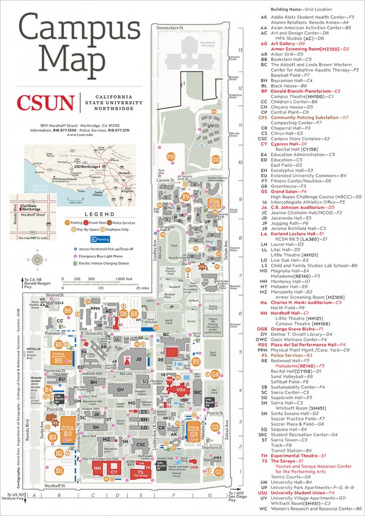 Csun Maps | California State University, Northridge - California University Of Pa Campus Map